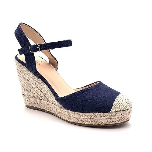 De Mode Espadrille Bohème Tressé Cm Lanières Chaussure La Compensé 5 Sandale Femme Angkorly Paille 9 Plateforme Casual Romantique Talon Avec qMGpSUVz