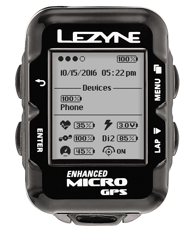 Lezyne Micro GPS Fahrradcomputer schwarz 2018 Tacho