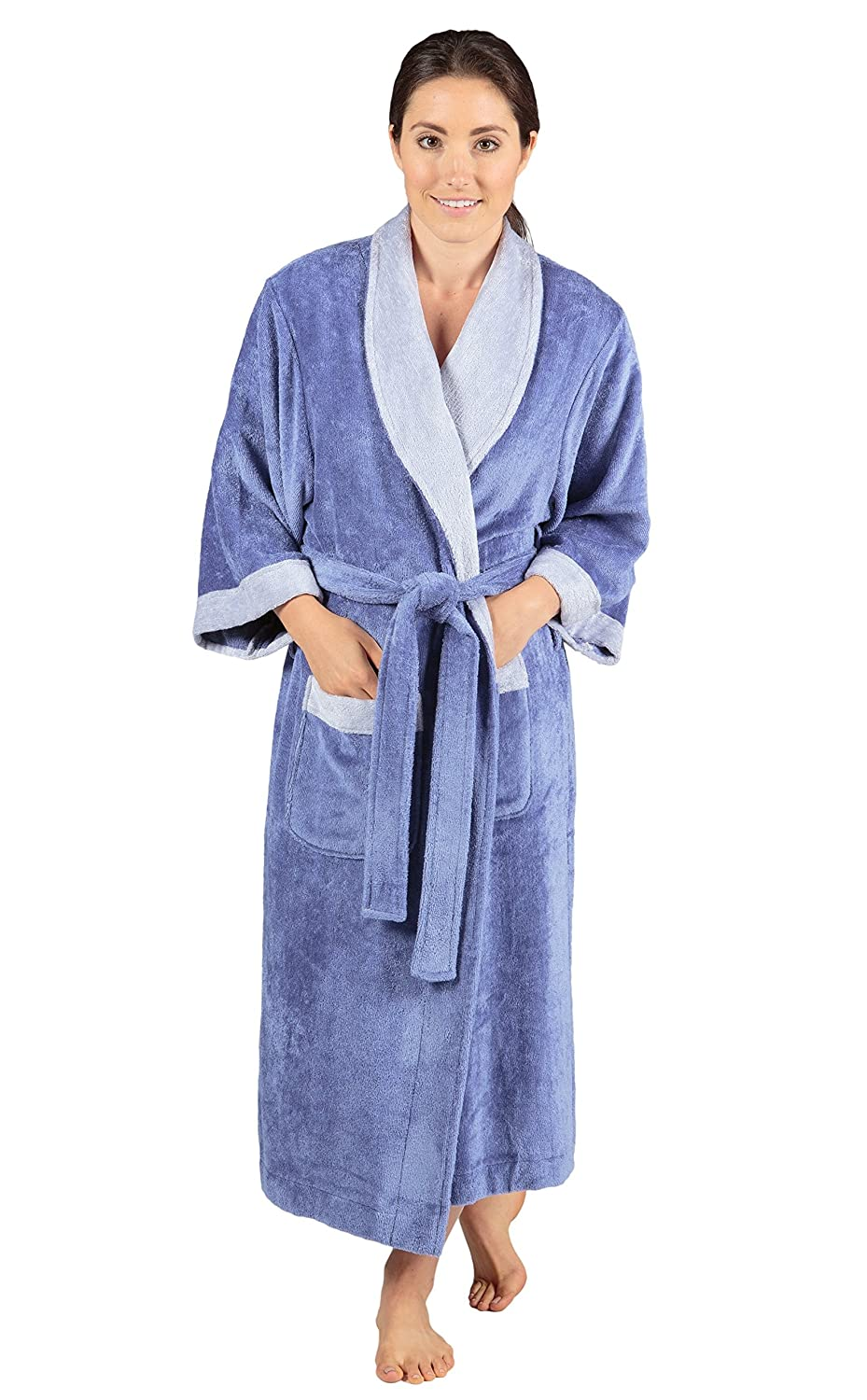 6c63ee6f204 Women s Terry Cloth Bath Robe - Luxury Comfy Robes by Texere (Sitkimono) at  Amazon Women s Clothing store