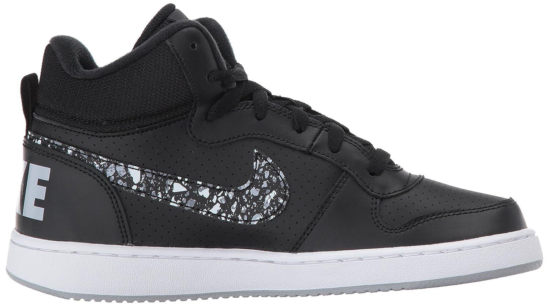 Nike Court Borough Mid PRNT GS, Chaussures de Gymnastique Fille, Noir (Black/Wolf Grey-White), 38 EU