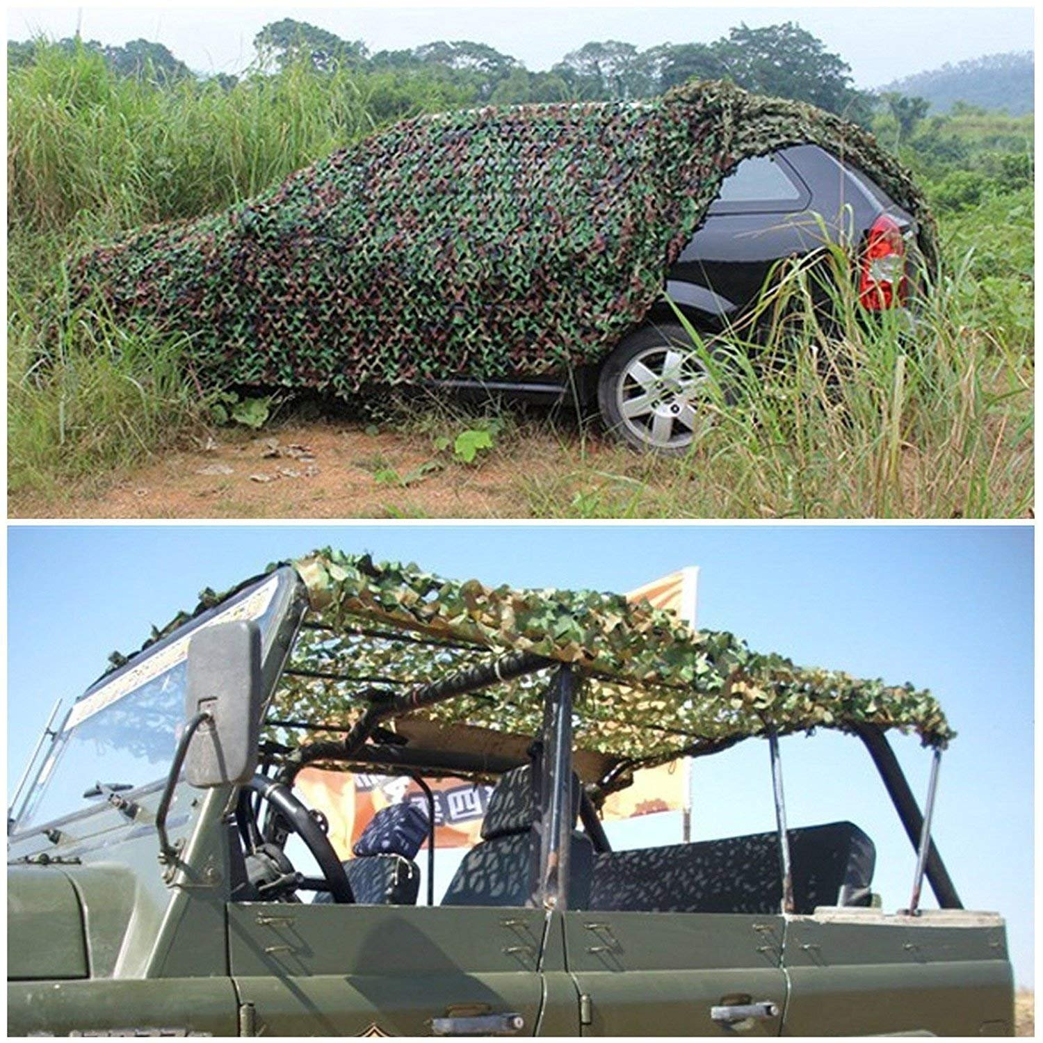 INorton Camo Netting Camouflage Net, 20×20ft Military Camo Mesh Netting,Hunting Shooting Blind Sunscreen Nets,Fit for Camping,Fishing,Party Decoration