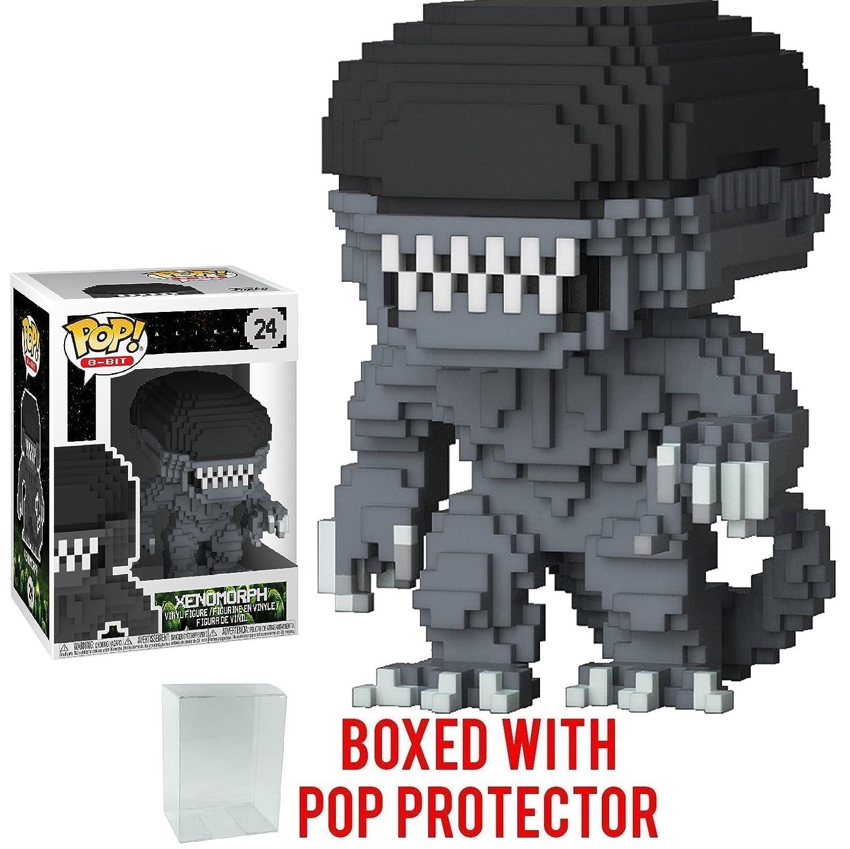 Funko 8-Bit Pop! Horror: Alien - Xenomorph Vinyl Figure (Bundled with Pop  BOX PROTECTOR CASE)