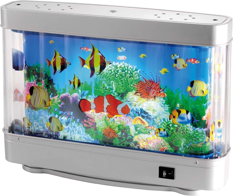 Aquarium Nacht Licht Silber/ Bunt/ Kunststoff/ Lampe Leuchte Fisch Baby  Babylampe Babyleuchte Kinderlampe Kinderleuchte Kinderzimmer ...