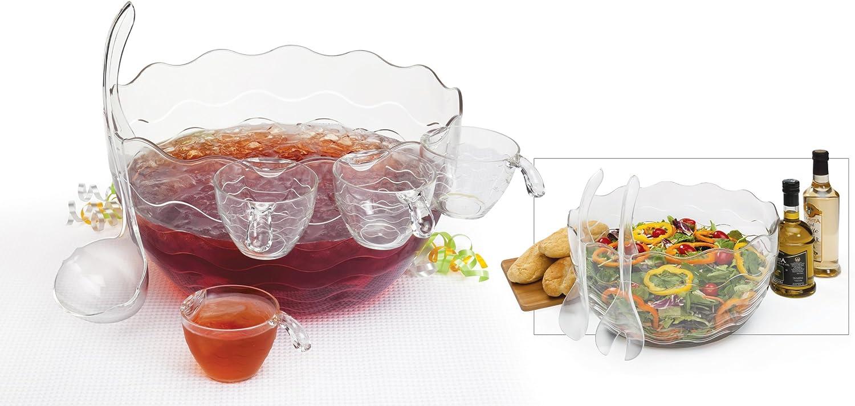 CreativeWare Punch/Salad Bowl 16-Piece Set