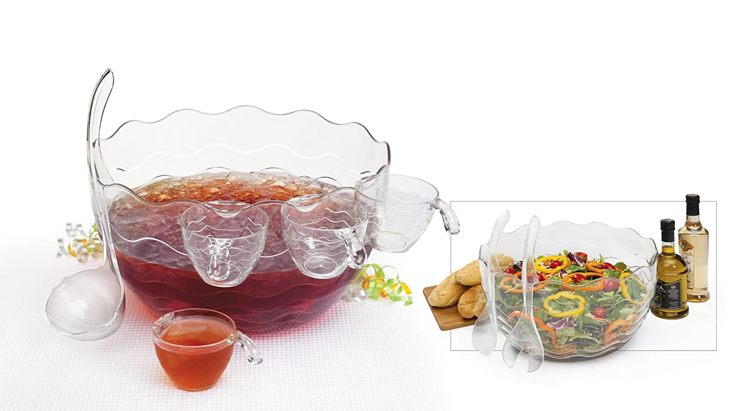 Creative Bath Punch/Salad Bowl, 16-Piece Set PUN-16CLR