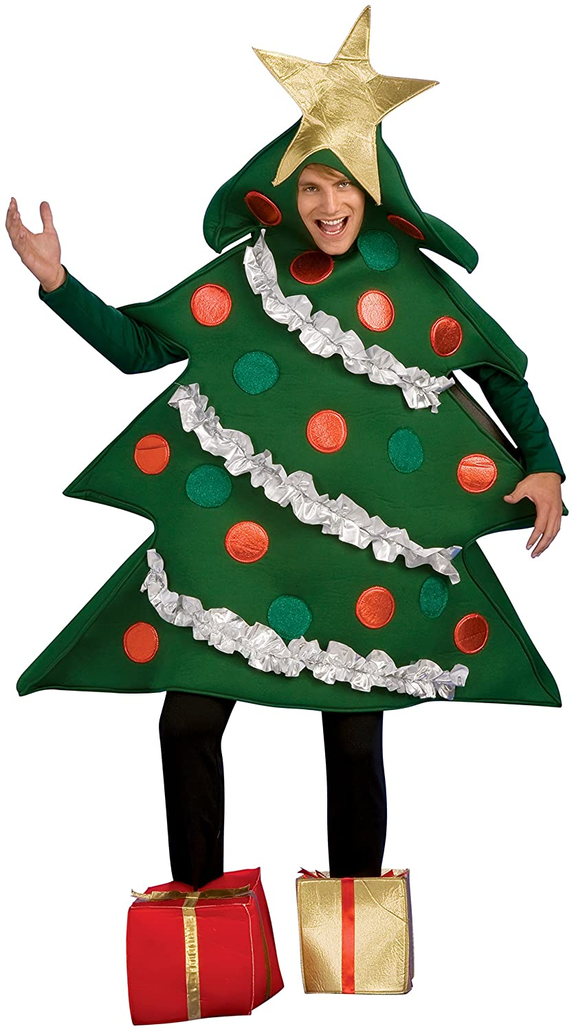 amazoncom rubies costume co mens christmas tree jumper with present boot tops clothing - Christmas Tree Costume