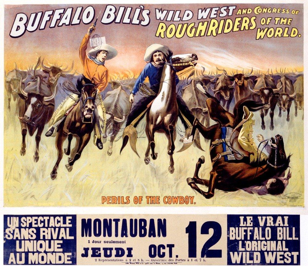 バッファロービル – カウボーイのビンテージポスターアメリカのPerils C。1902 36 x 54 Giclee Print LANT-59484-36x54 36 x 54 Giclee Print  B01MPVOJ13