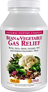 Andrew Lessman Bean & Vegetable Gas Relief 60 Capsules – Natural Enzyme Complex, Reduces Gas and Bloating from Beans, Cruciferous Vegetables, Fruits, Grains and Gas-Causing Foods, Gentle & Effective.