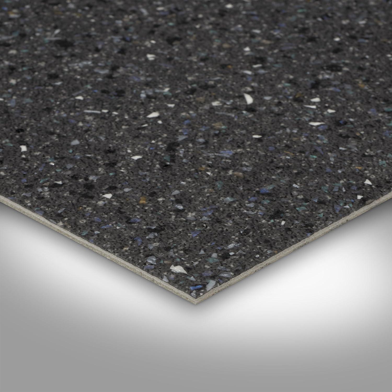PVC Bodenbelag Steinoptik 200 Chip anthrazit 300 und 400 cm Breite Gr/ö/ße: 1,5 x 2 m Meterware verschiedene Gr/ö/ßen