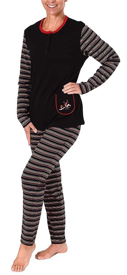 d9a05defaf3ce4 Normann Copenhagen Damen Pyjama Schlafanzug in Kuschel Interlock - auch in Übergrössen  281 201 96 120: Amazon.de: Bekleidung