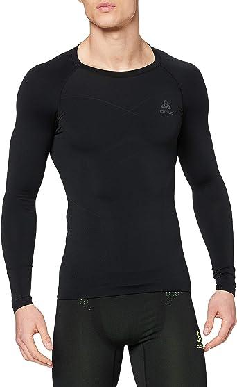 ODLO Mens Sports Underwear Sweater Jumper Grey Black All Sizes New
