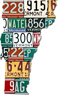 product image for VERMONT License Plate Plasma Cut Map Sign, GREEN MOUNTAIN STATE Metal Sign Garage Art Great Gift Man Cave Plasma Cut Aluminum UV Printed Rustic Sign Birthday Gift Patriotic Sign Holiday Gift