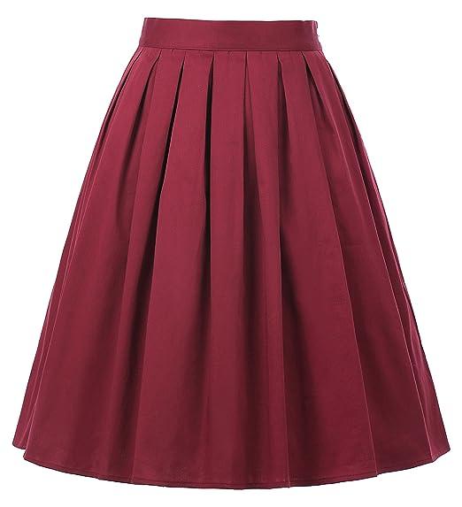 8db9934eb89 Grace Karin Women 1950s Style Vintage Skirt Knee Length Short Skirt with  Pockets CL6294  Amazon.co.uk  Clothing