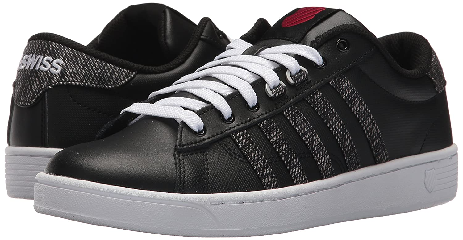 K-Swiss Women's Hoke CMF Sneaker B071FBKV7B 8.5 B(M) US|Black/White/Chili Pepper