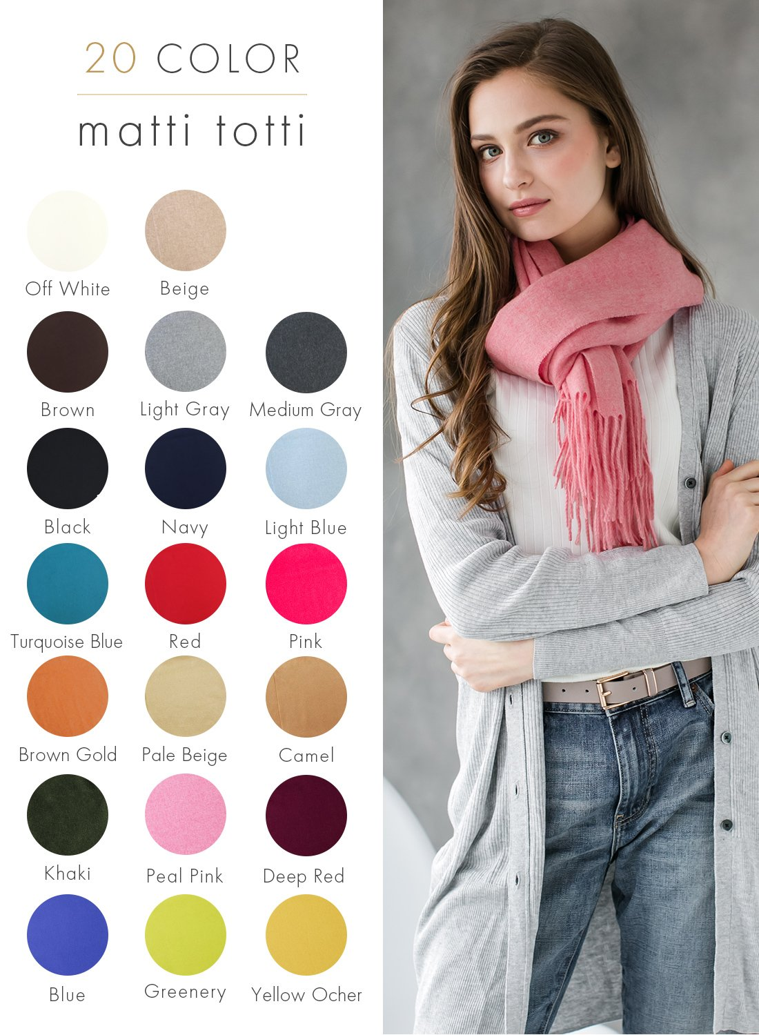 Pale Pink 100% Cashmere Shawl Stole Women Gift Scarves Wrap Blanket A1814B1-18 by matti totti (Image #2)