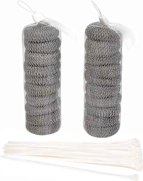 NOVSIX 20 Pcs Washing Machine Lint Traps Laundry Mesh Washer Drain Hose lint Trap with 20 Pieces Cable Ties