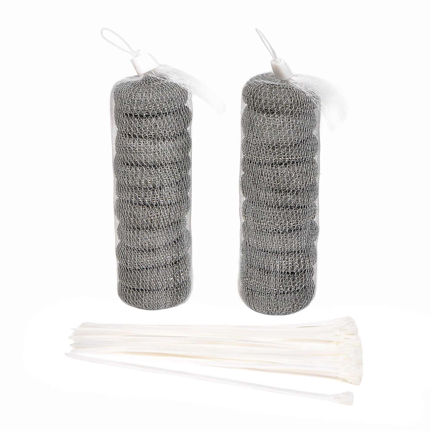 20Pcs Washing Machine Lint Traps Laundry Mesh Washer drain hose lint trap with 20 Pieces Cable Ties NOVSIX