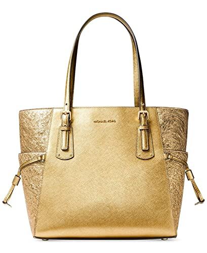 7e2dffd43b52d1 Amazon.com: MICHAEL Michael Kors Voyager East West Signature Tote (Gold):  Shoes