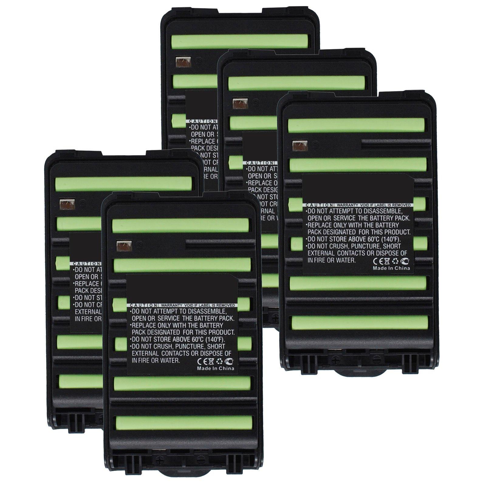 5x Exell 7.2V 1800mAh Ni-MH FRS 2way Radio Battery Fits Icom BP-264, BP264, IC-F3001, IC-F3002, IC-F3003, IC-F3101D, IC-F4001, IC-F4002, IC-F4003, IC-F4101D, IC-T70, IC-T70A, IC-T70E by Exell Battery (Image #1)