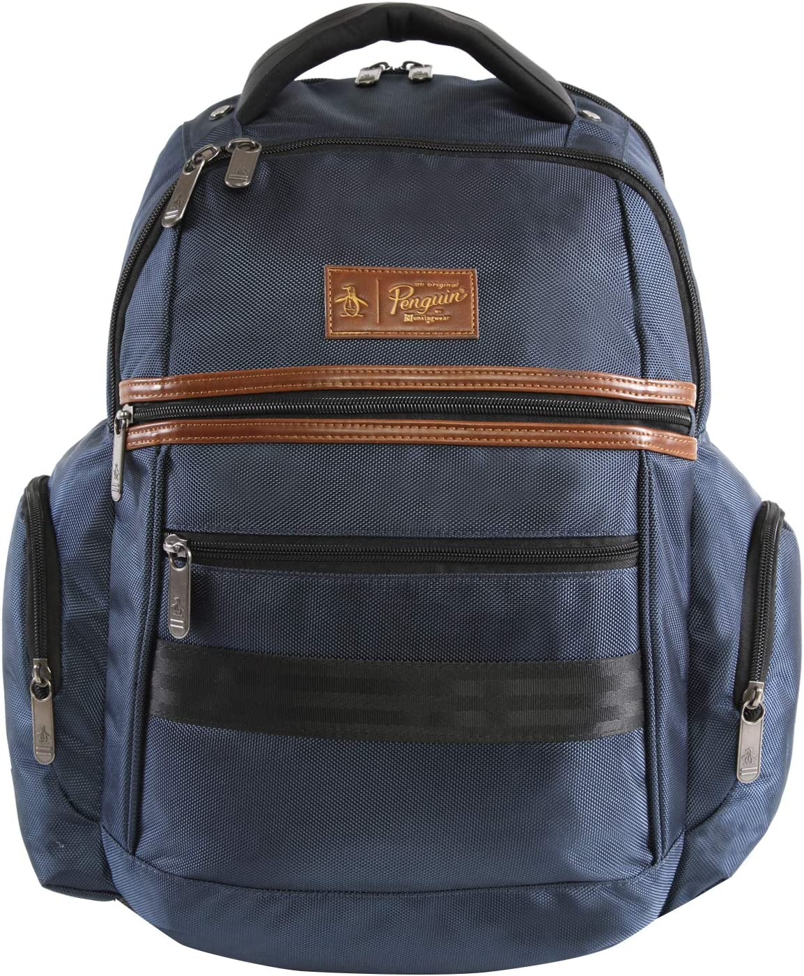 ORIGINAL PENGUIN Classics Backpack Fits Most 15-inch Laptop and Notebook, Navy, One Size