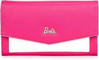 Barbie Portafoglio da Donna Ragazza Bambina, dallo stile sottile in PU, Colore Rosa, Bianco, Viola, Giallo, Celeste, Nero, Dimensioni:19x3x11CM#BBPS054 Dimensioni:19x3x11CM#BBPS054 (Viola)