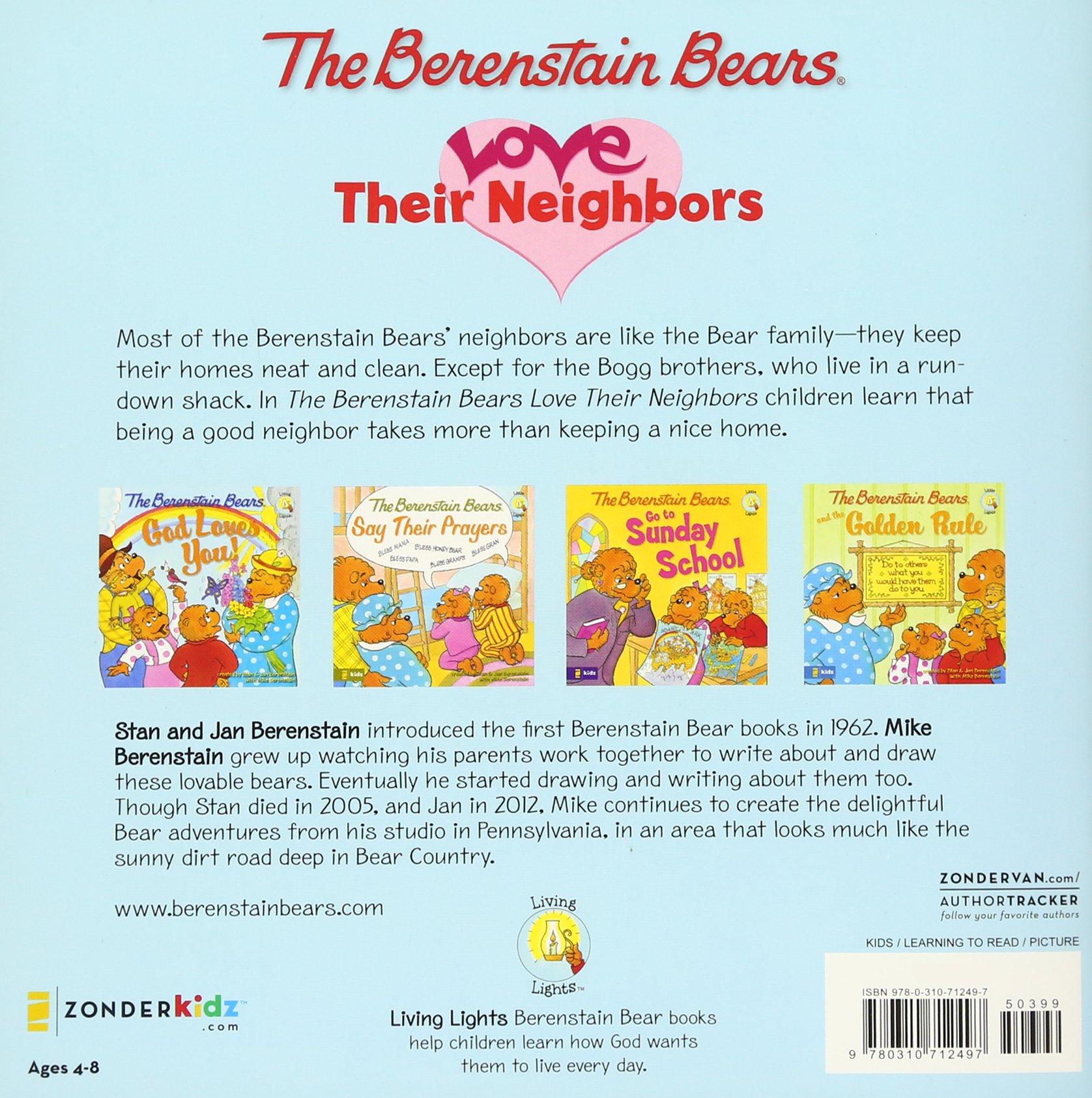 Amazon com the berenstain bears love their neighbors berenstain bears living lights 9780310712497 jan berenstain mike berenstain books