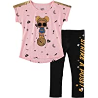 L.O.L. Surprise! Girls' Short Sleeve Cross Back T-Shirt and Leggings Set
