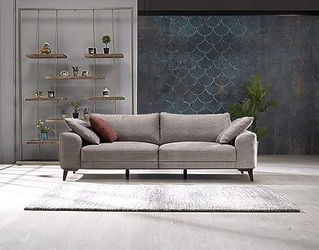 Amazon.com: Casa Mare Halley Modern 3 Seater Sofa   Couch ...