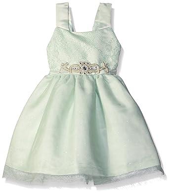 826b13fa551 Amazon.com  Jayne Copeland Girls  Lace W Mesh and Motif Dress  Clothing