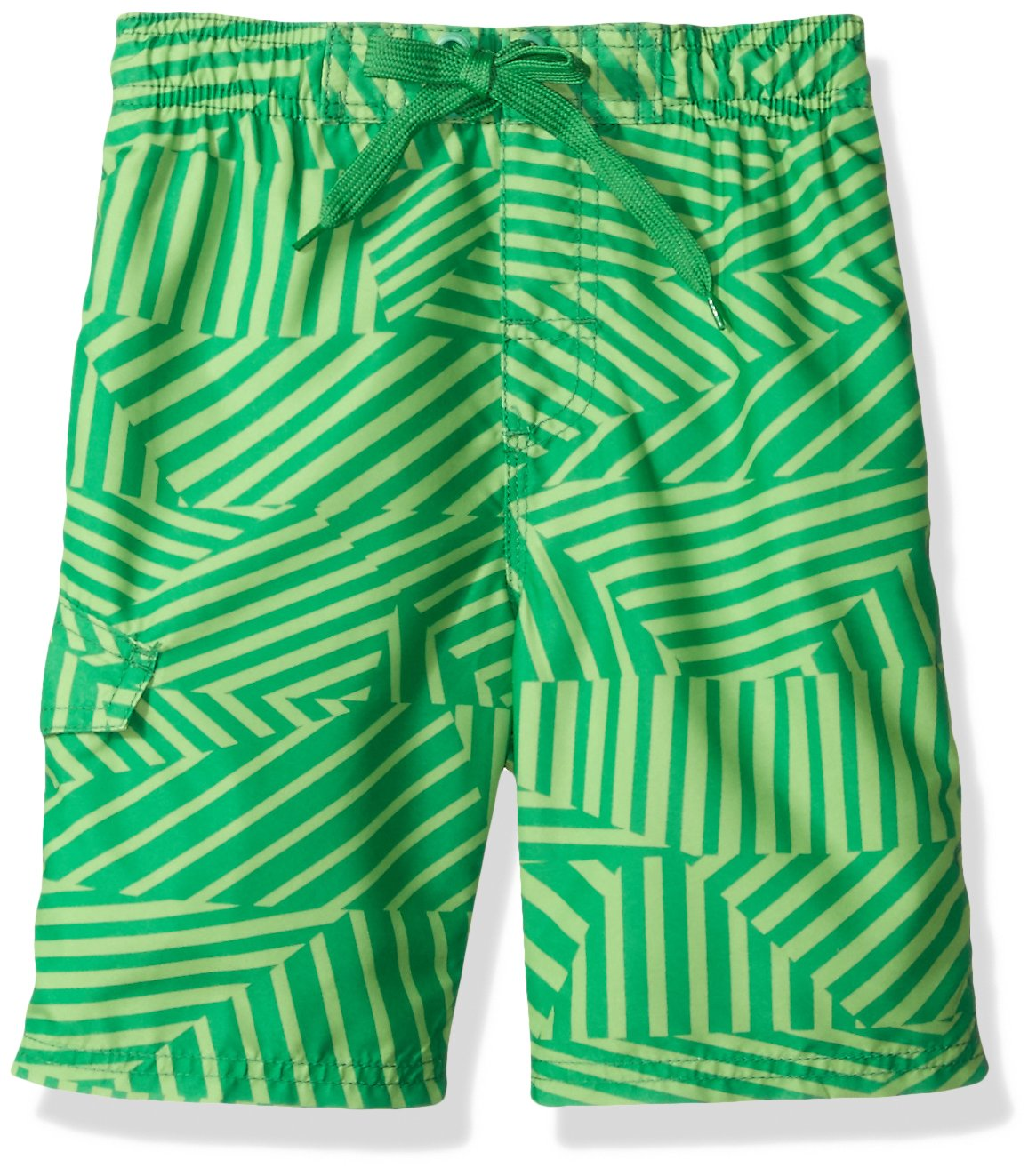 Kanu Surf Big Boys' Static Geo Quick Dry Beach Board Shorts Swim Trunk, Green, X-Large (18/20)