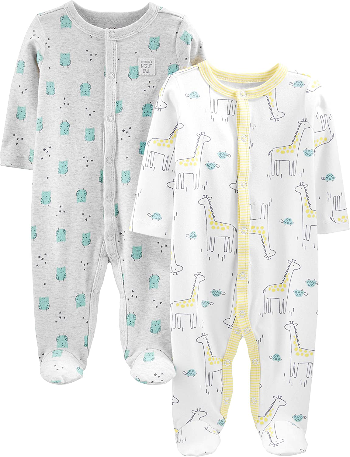Simple Joys by Carters Baby 2-Pack Cotton Footed Sleep and Play