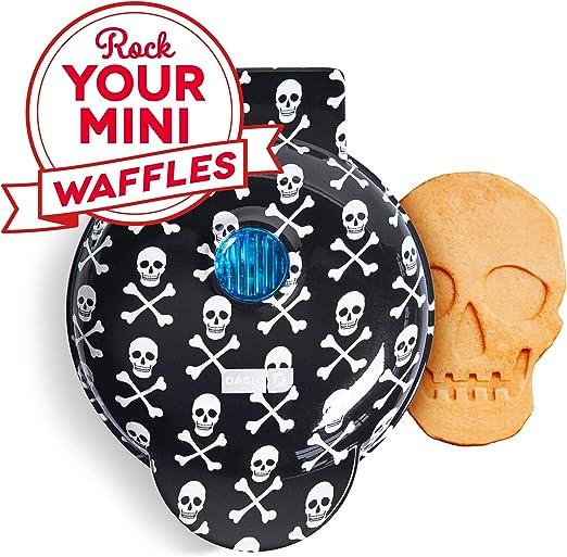 skull mini waffle maker for halloween