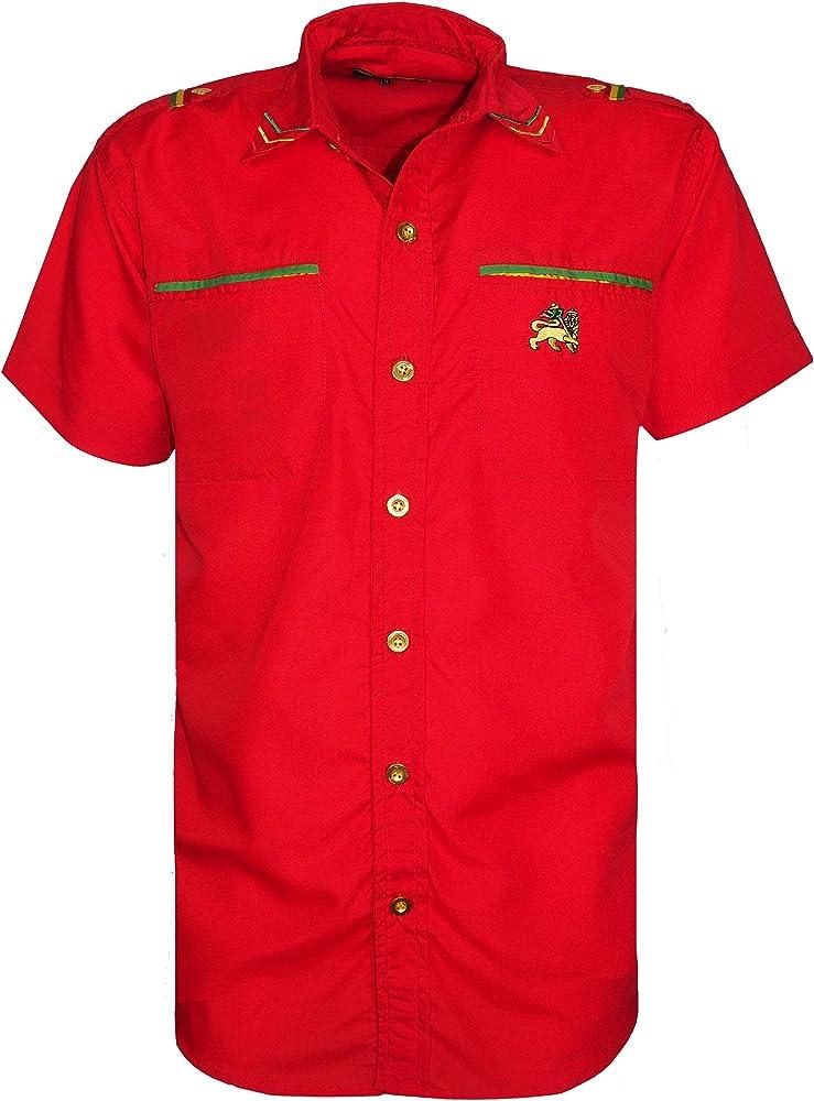 Raw Blue - Camisa Casual - para Hombre Rojo Rosso Large: Amazon.es: Ropa y accesorios