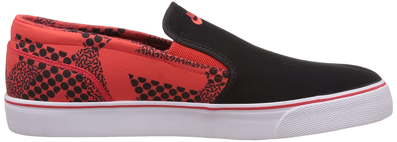 ... nike mens toki slip txt print black bright crimson white casual sneakers  6 uk india 40