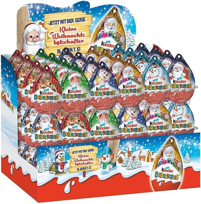 Kinder Sorpresa Navidad, 20g [pack de 72]: Amazon.es: Alimentación ...