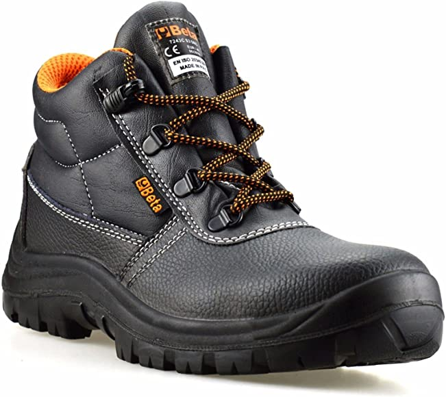 MENS LEATHER WATERPROOF STEEL TOE CAP MIDSOLE WORK ANKLE SAFETY BOOTS SHOES SZ