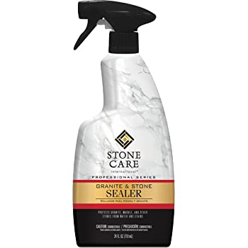 Stone Care Int. Granite Sealer U0026 Protector   24 Ounce   Best Stone Polish,  Protectant U0026 Care Product   Clean Countertop Surface Marble Tile   No  Streaks ...