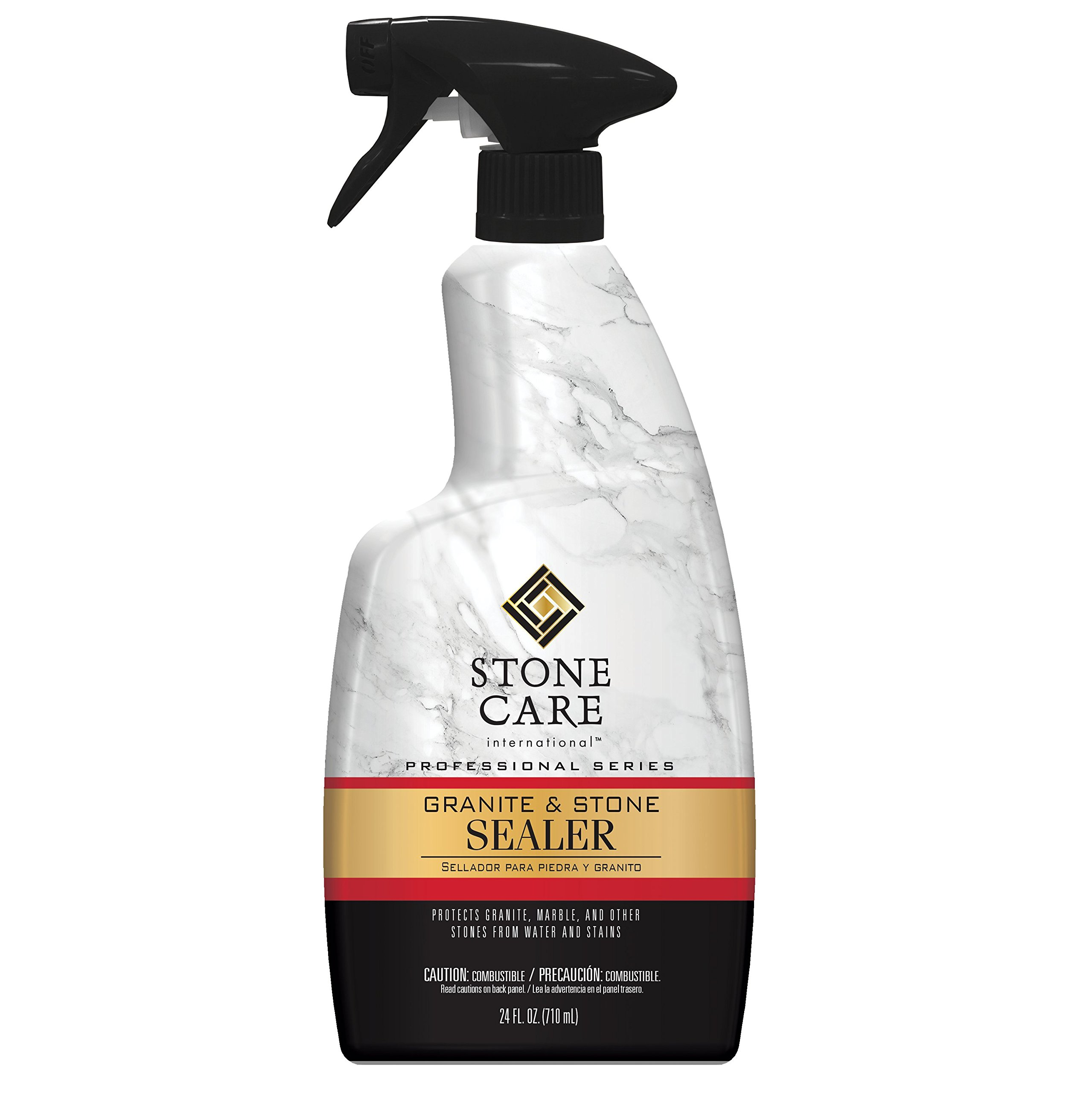 Stone Care Int. Granite Sealer & Protector - 24 Ounce - Best Stone Polish, Protectant & Care Product - Clean Countertop Surface Marble Tile - No Streaks Stains Haze Spots