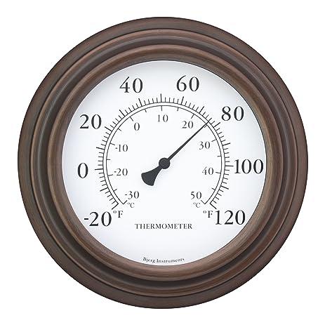 Attractive 8u0026quot; Decorative Indoor / Outdoor Patio Wall Thermometer ...