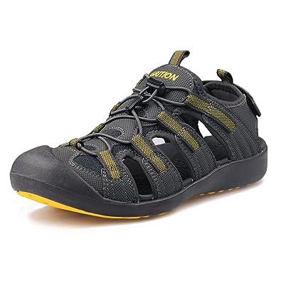 3d2e0f8b805 GRITION Men s Outdoor Sandals Large Size Hiking Sandals Protective Toecap Summer  Shoes (6.5 US