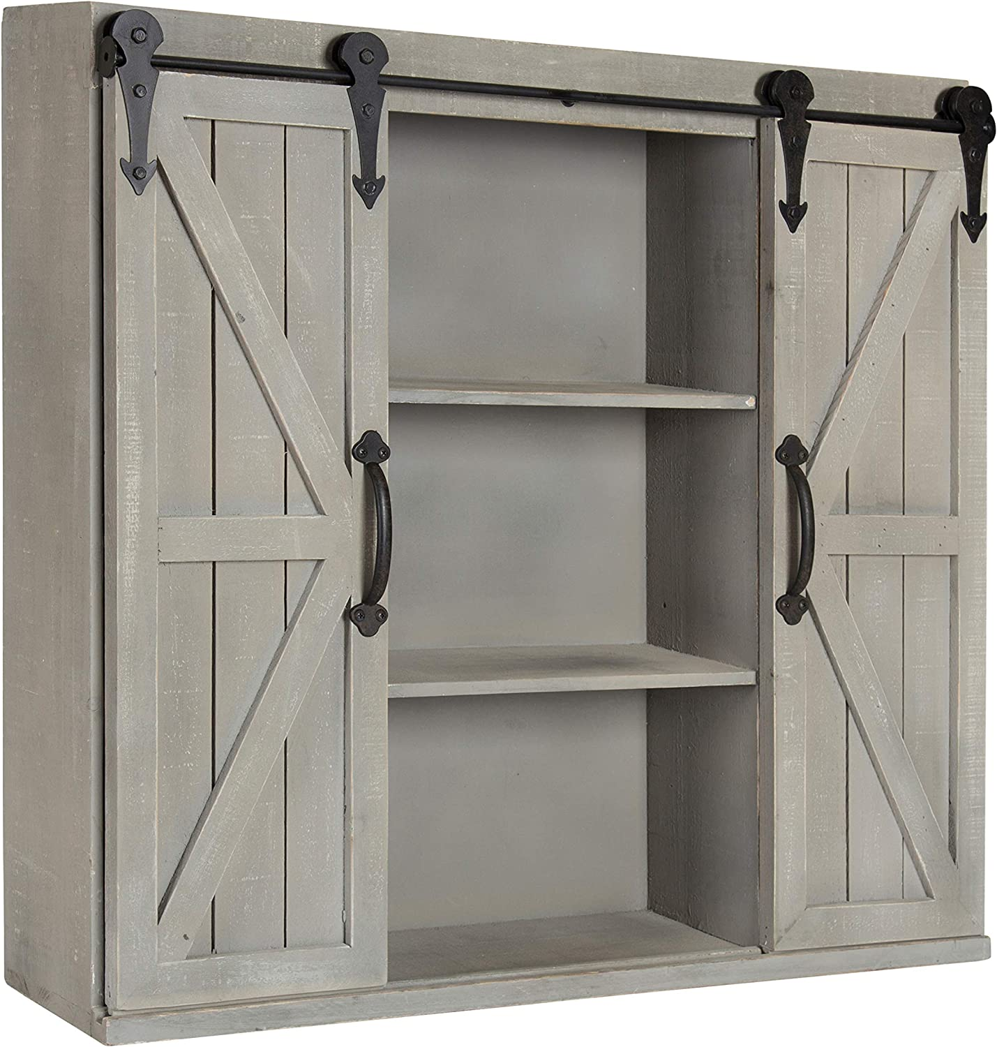 Vintage Industrial Style Wall Cabinet Storage Shelving Unit Small Wall Chest