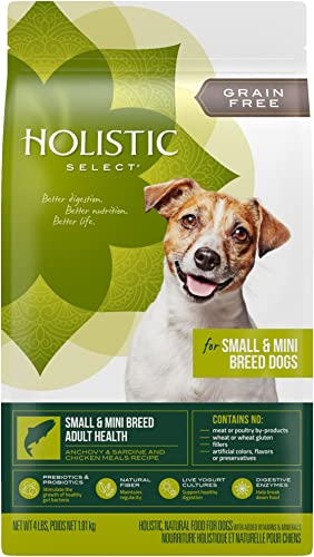 Holistic Select Natural Dry Dog Food Grain Free Small Mini Breed Adult