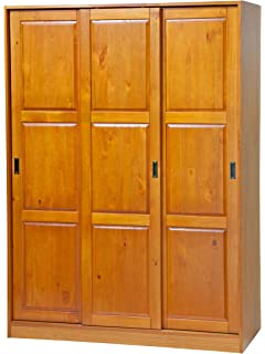 Charmant Palace Imports 100% Solid Wood 3 Sliding Door Wardrobe/Armoire/Closet Or