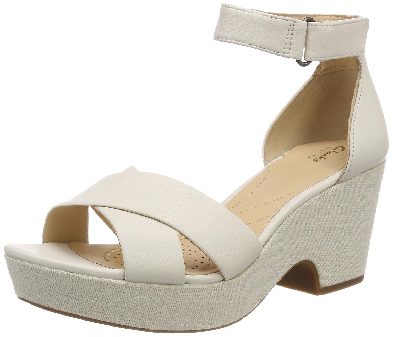 Clarks Maritsa Ruth, Sandalia con Pulsera Mujer 41.5 EU|Blanco (White Leather)