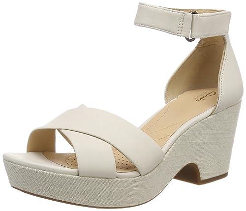 b133426b710a Clarks Women s Maritsa Ruth White Leather Fashion Sandals-6 UK India (39.5  EU