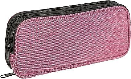 Iden Office 0647-EBV estuche de lápices, estuche rectangular, 2 compartimentos, color rosa: Amazon.es: Oficina y papelería
