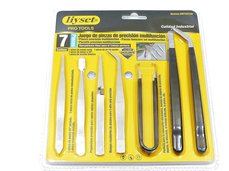Juego de pinzas de precisión 7 unidades: Amazon.es: Bricolaje y herramientas