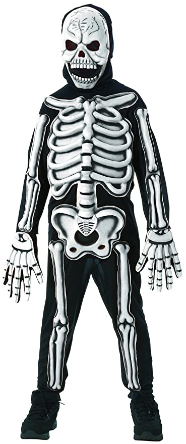 Amazon Rubies Glow In The Dark Skeleton Child Costume Small