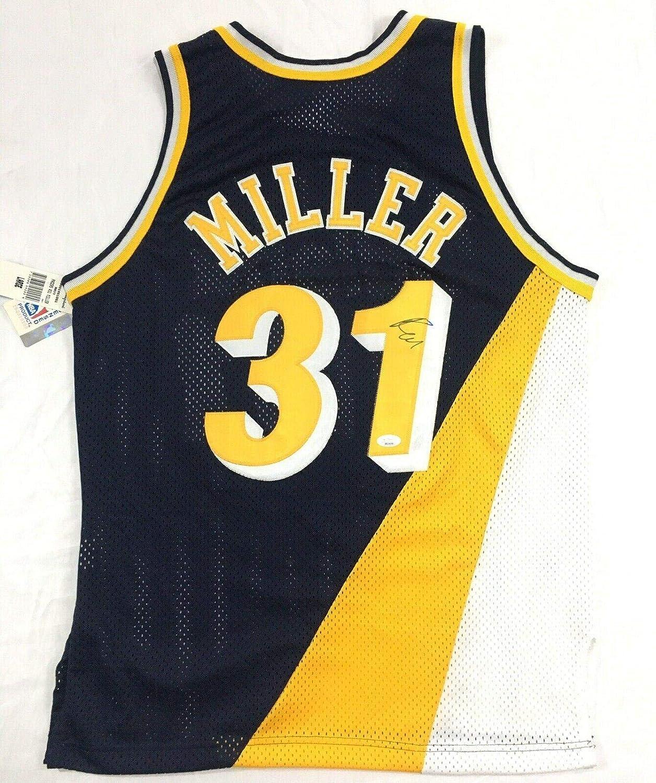 Reggie Miller Autographed Jersey - 90s