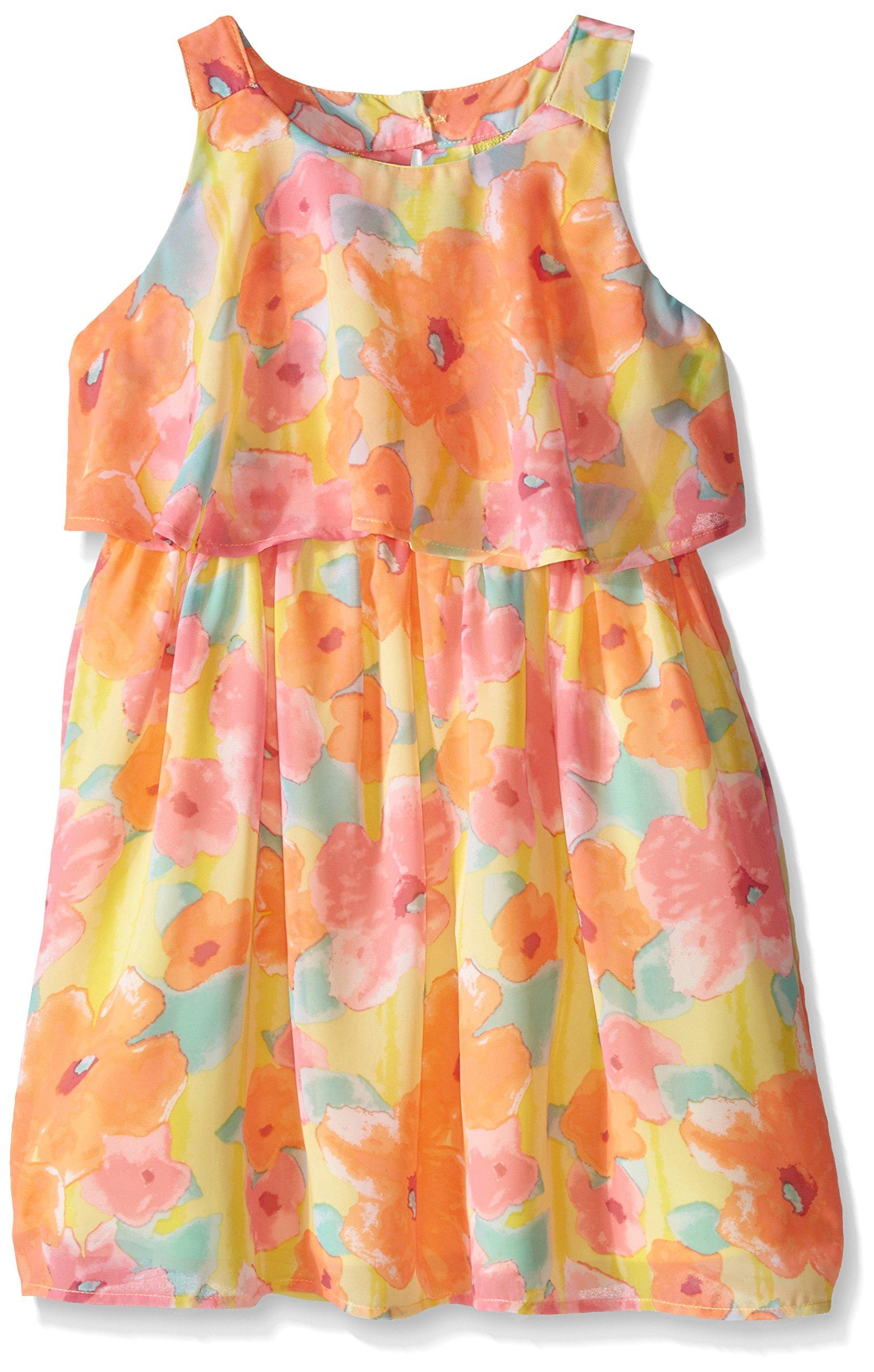 Pogo Club Big Girls Monet's Garden Chiffon Dress With Bag Vitamin C Large/14/16 by Pogo Club